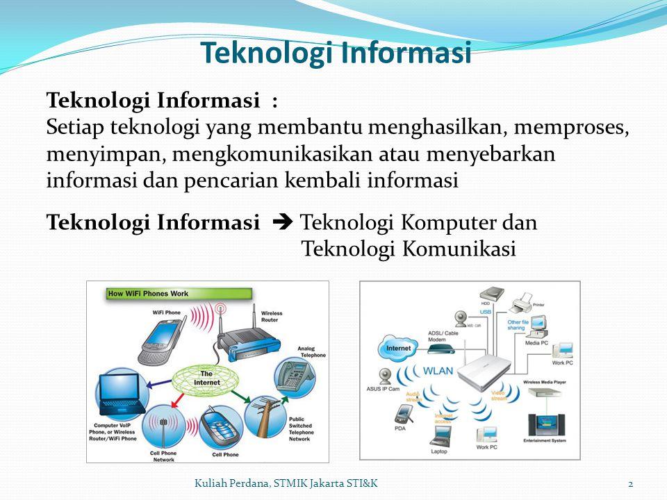 Teknologi Informasi Teknologi Informasi :