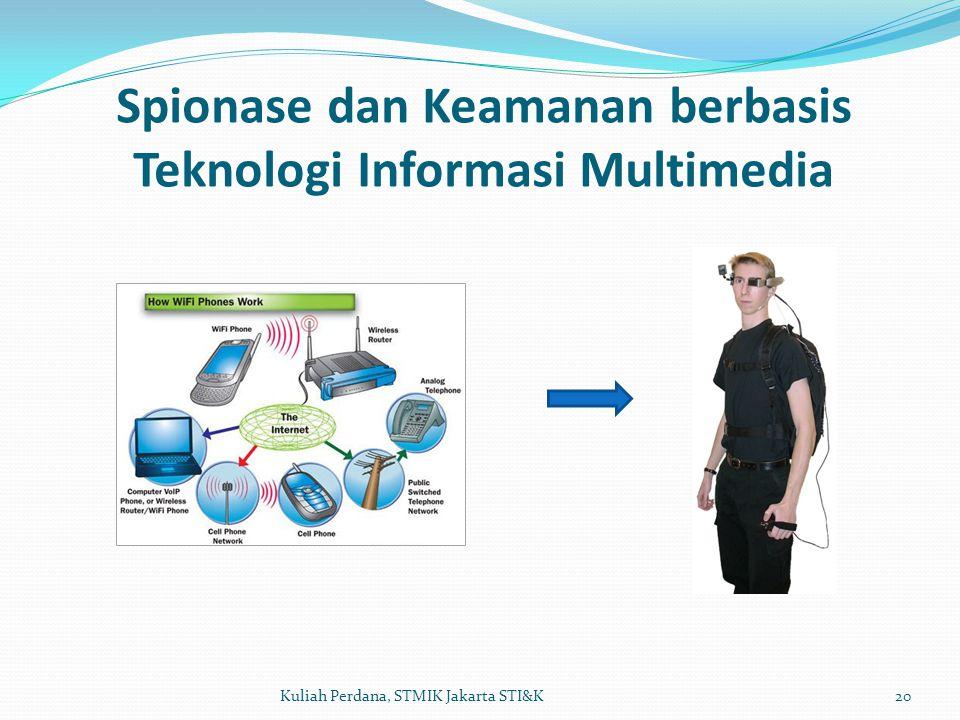 Spionase dan Keamanan berbasis Teknologi Informasi Multimedia