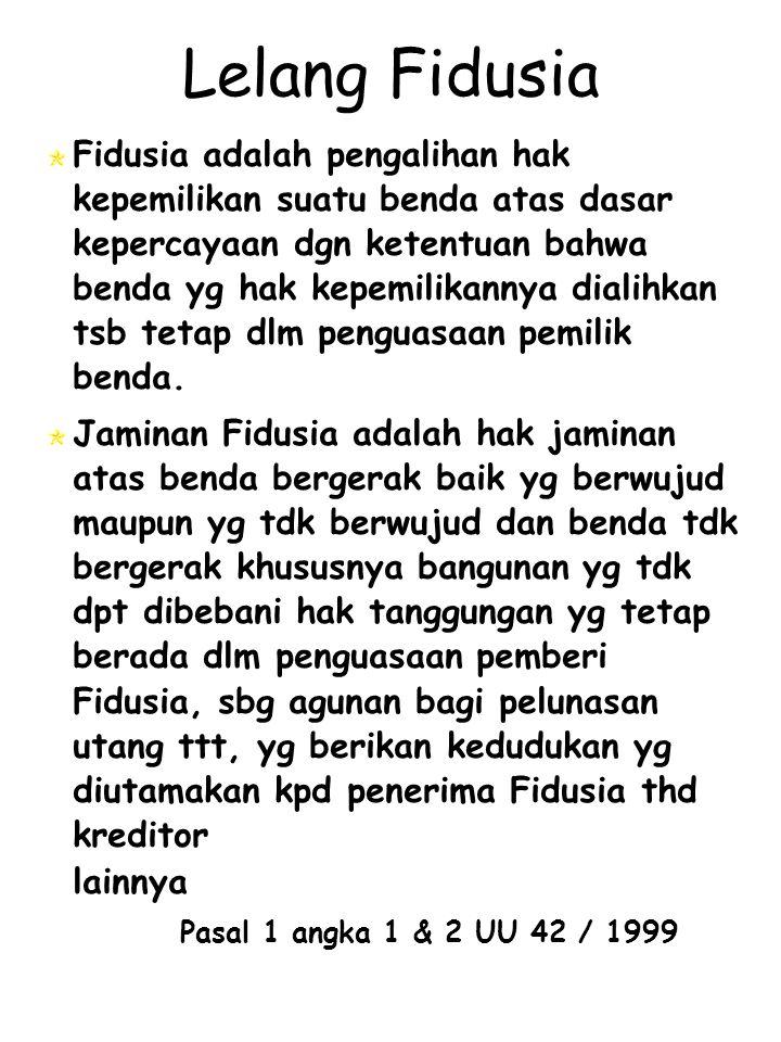 Lelang Fidusia