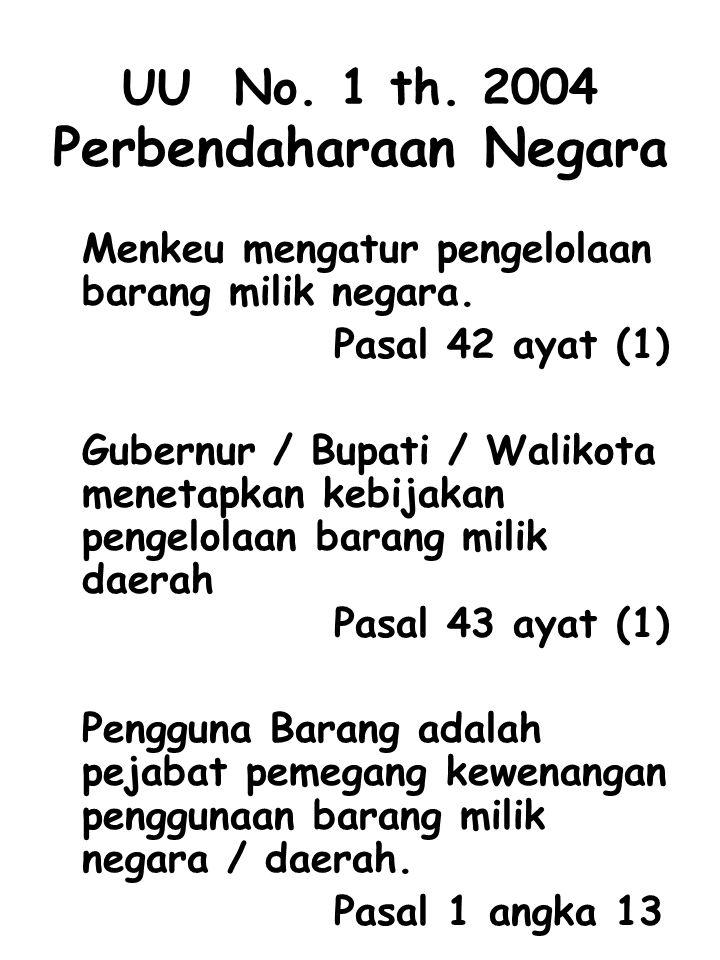 UU No. 1 th. 2004 Perbendaharaan Negara