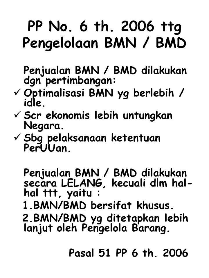 PP No. 6 th. 2006 ttg Pengelolaan BMN / BMD