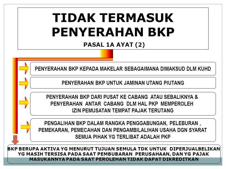 TIDAK TERMASUK PENYERAHAN BKP PASAL 1A AYAT (2)
