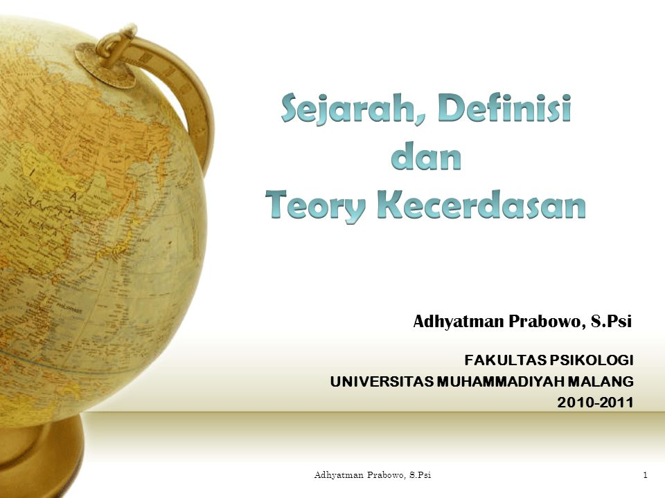 FAKULTAS PSIKOLOGI UNIVERSITAS MUHAMMADIYAH MALANG 2010-2011