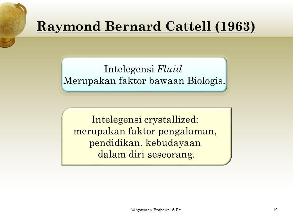Raymond Bernard Cattell (1963)