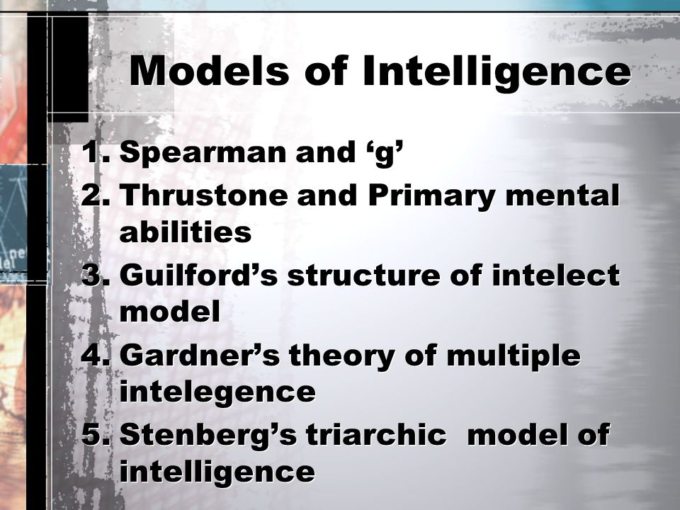 Models of Intelligence