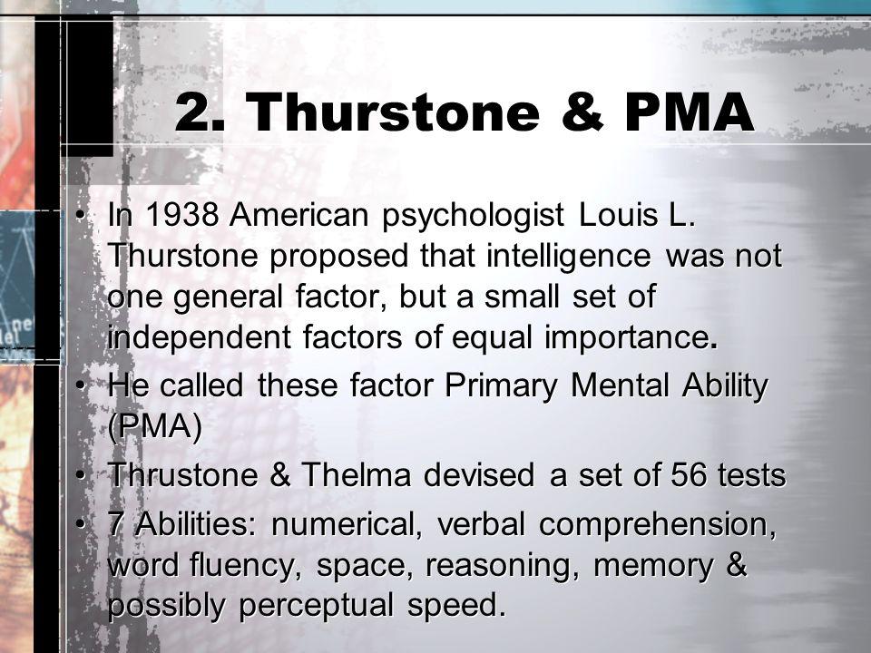 2. Thurstone & PMA