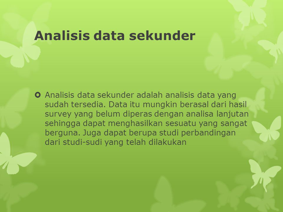 Analisis data sekunder
