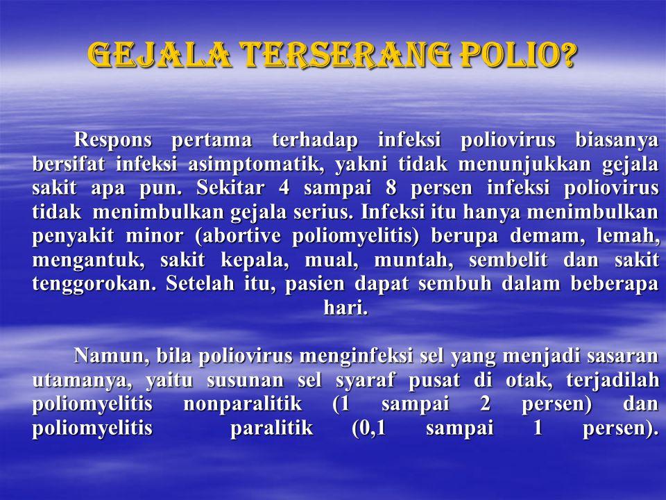 Gejala terserang polio