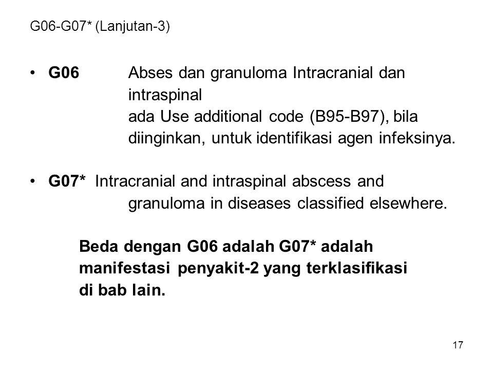 G06 Abses dan granuloma Intracranial dan intraspinal