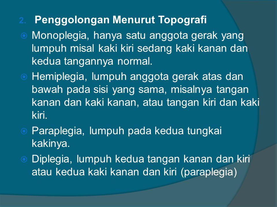 Penggolongan Menurut Topografi