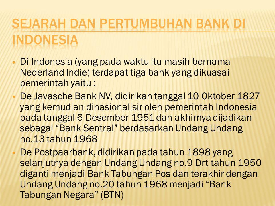 Sejarah dan pertumbuhan bank di Indonesia