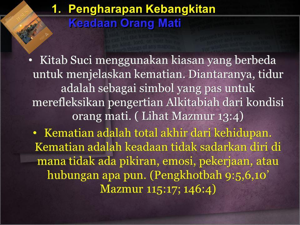 1. Pengharapan Kebangkitan