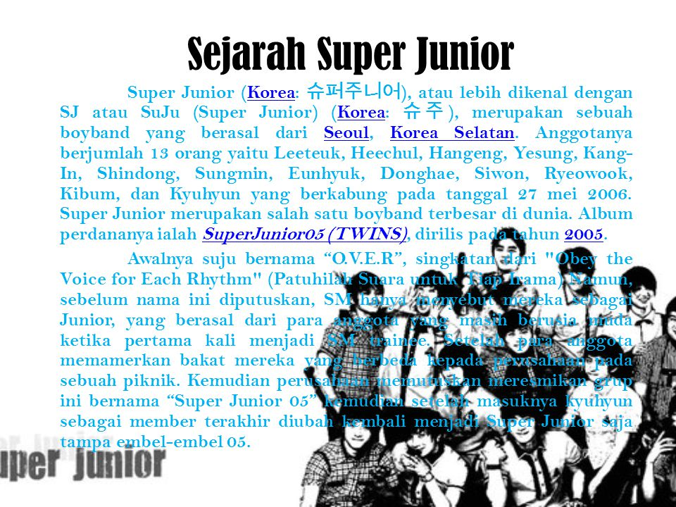 Sejarah Super Junior