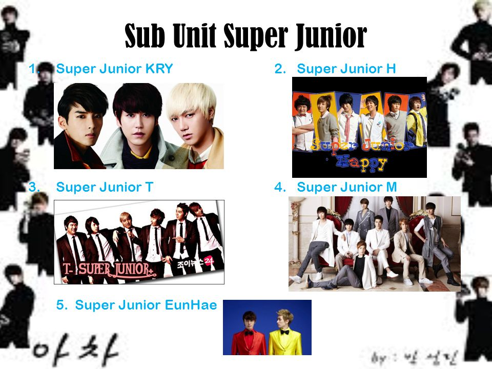 Sub Unit Super Junior Super Junior KRY 2. Super Junior H
