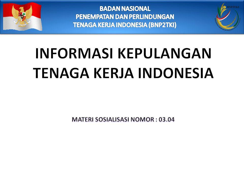 INFORMASI KEPULANGAN TENAGA KERJA INDONESIA