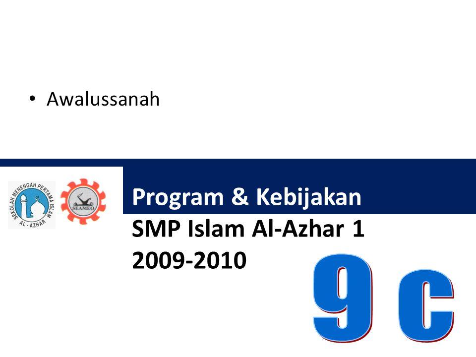 Program & Kebijakan SMP Islam Al-Azhar 1 2009-2010