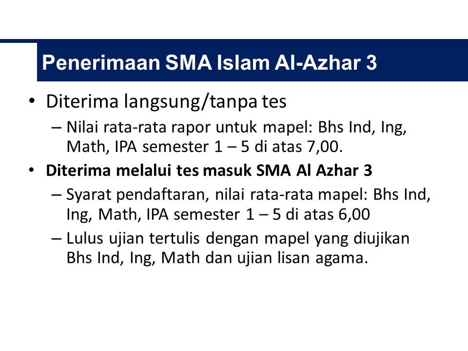Penerimaan SMA Islam Al-Azhar 3