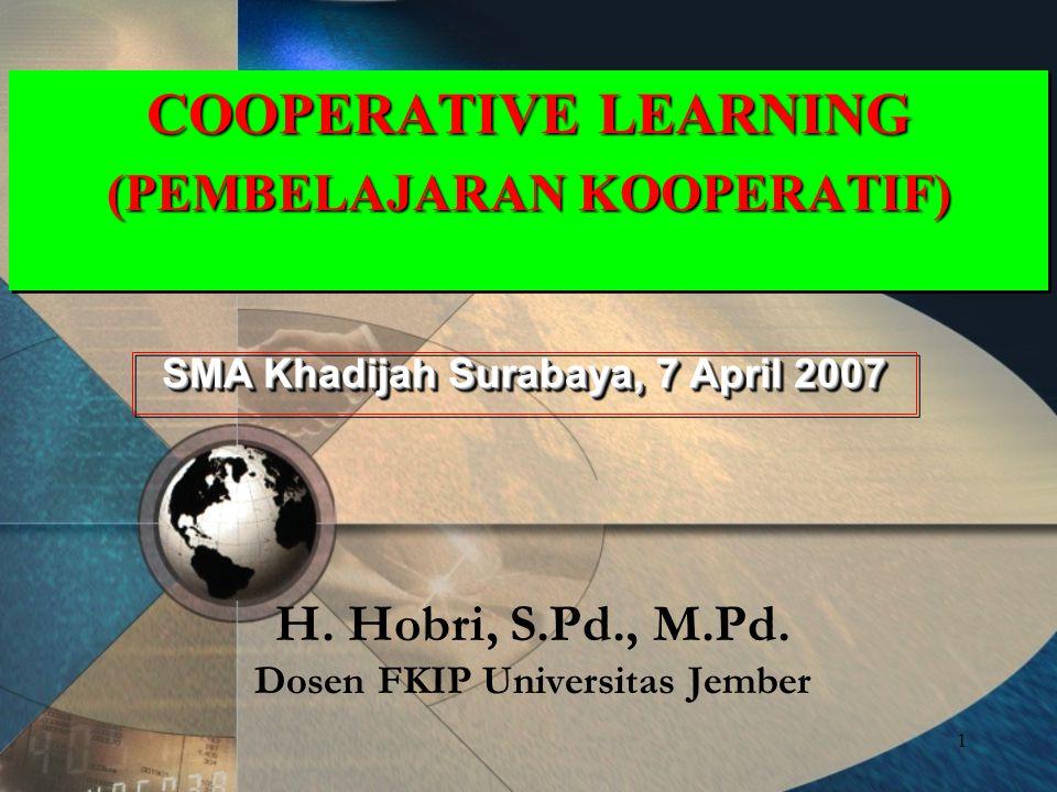 H. Hobri, S.Pd., M.Pd. Dosen FKIP Universitas Jember