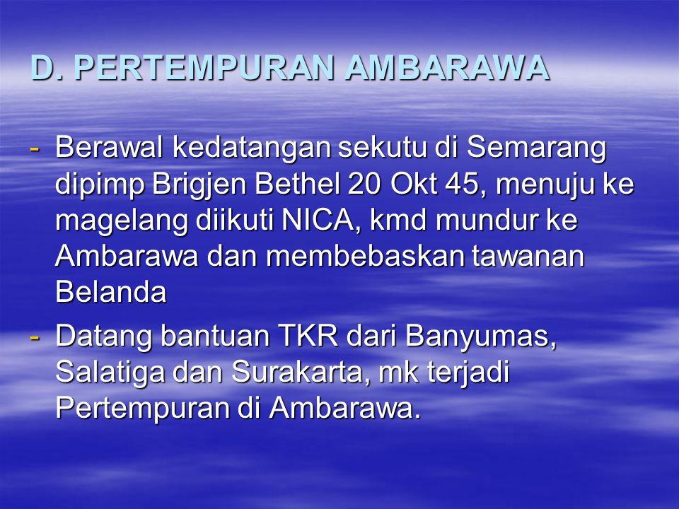 D. PERTEMPURAN AMBARAWA