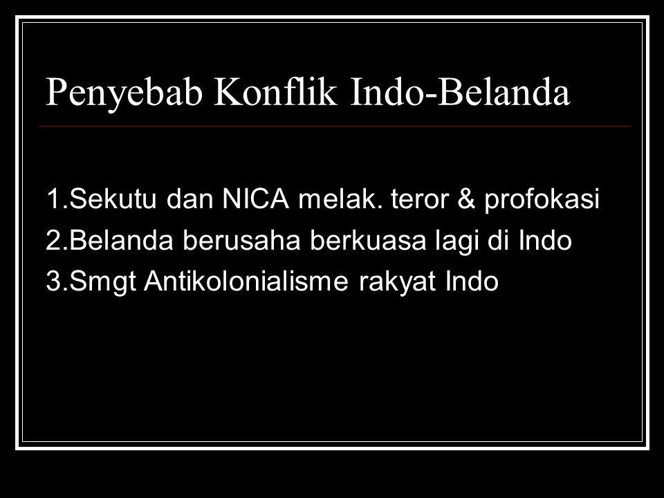 Penyebab Konflik Indo-Belanda