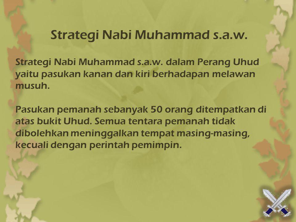 Strategi Nabi Muhammad s.a.w.