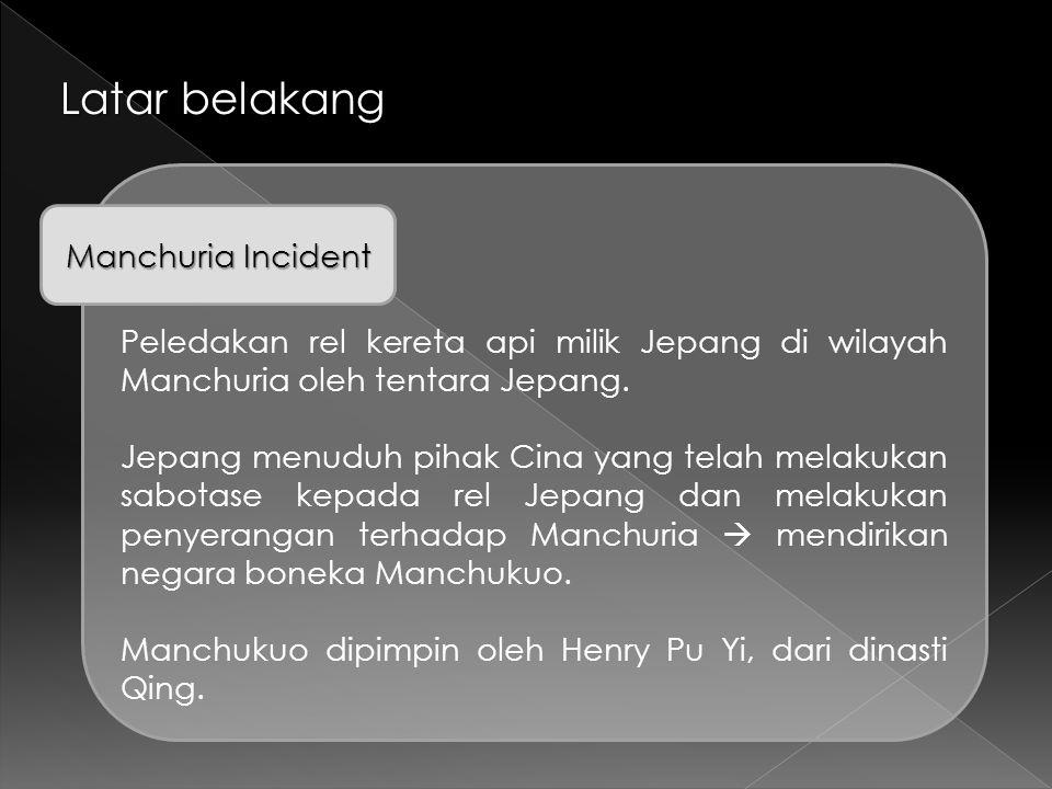 Latar belakang Manchuria Incident