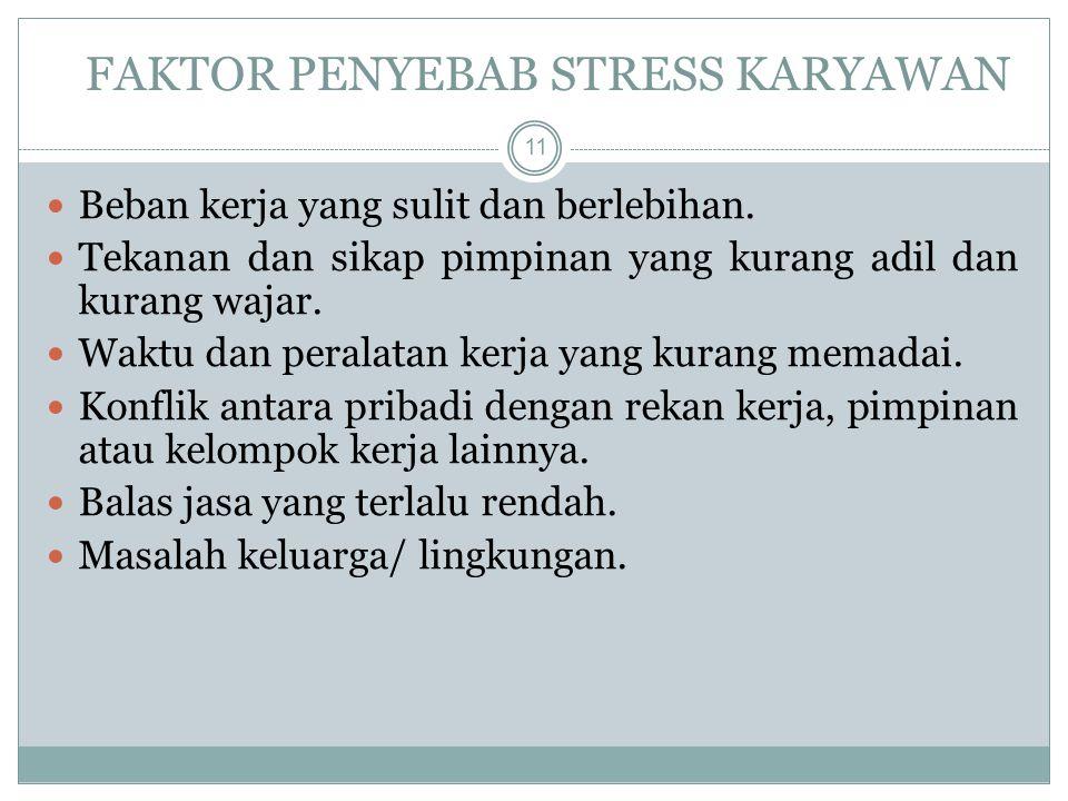 FAKTOR PENYEBAB STRESS KARYAWAN