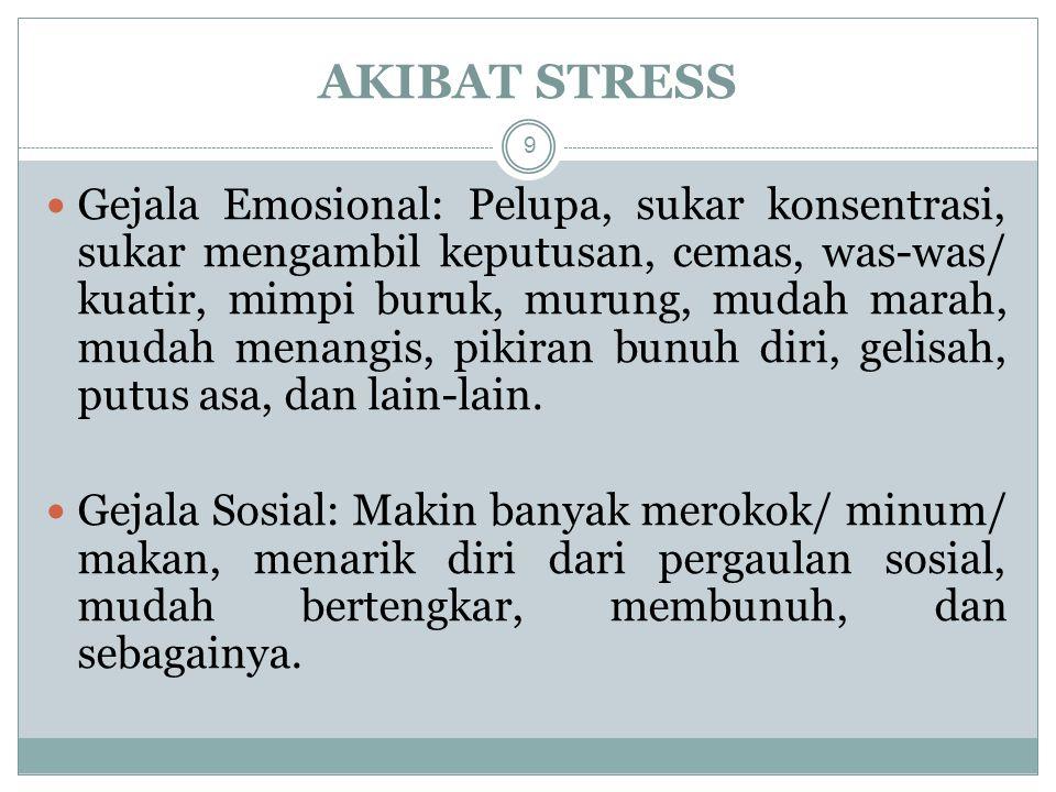 AKIBAT STRESS
