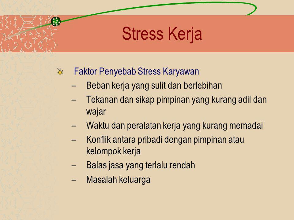 Stress Kerja Faktor Penyebab Stress Karyawan