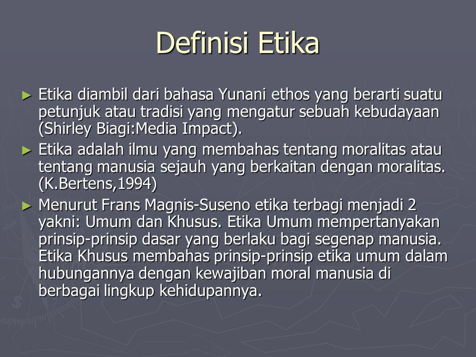 Definisi Etika