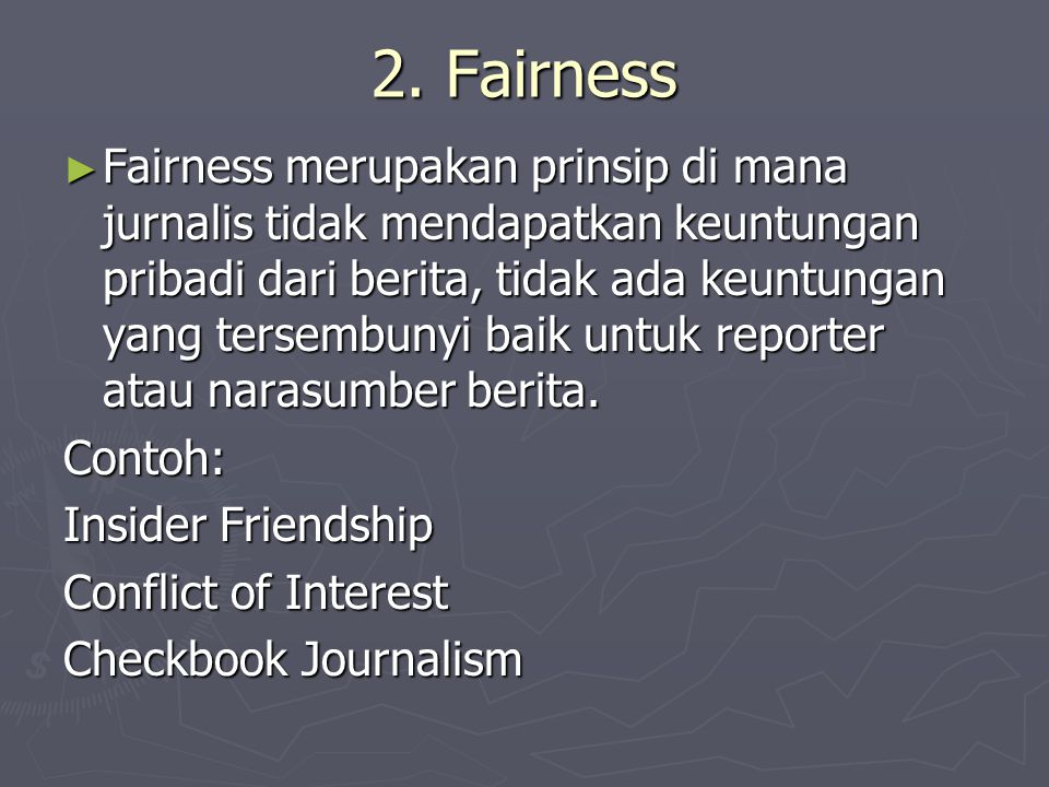 2. Fairness