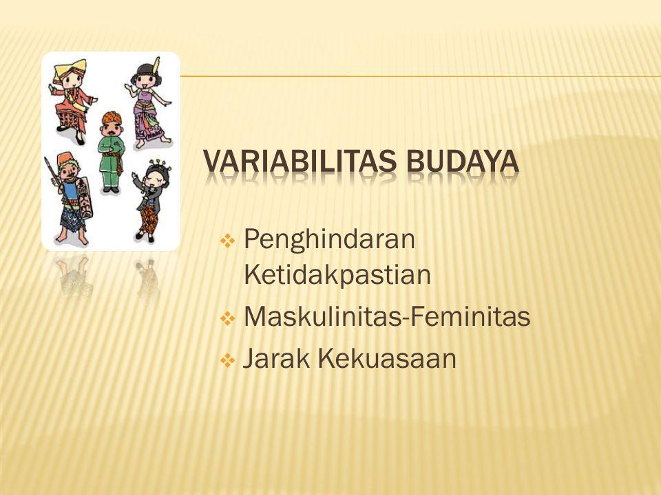Variabilitas Budaya Penghindaran Ketidakpastian Maskulinitas-Feminitas
