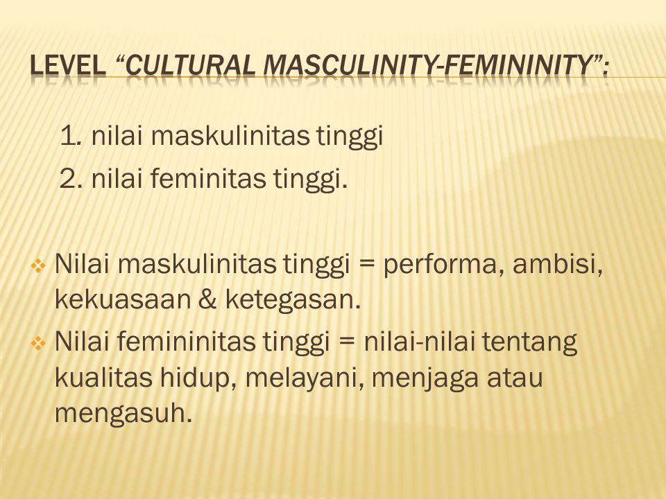 Level cultural masculinity-femininity :