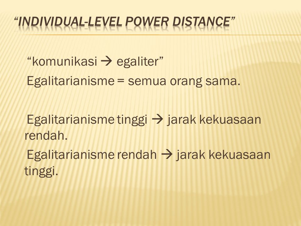 Individual-level power distance