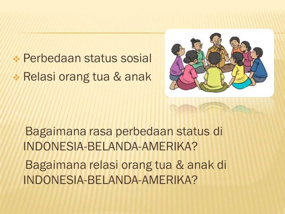 Perbedaan status sosial