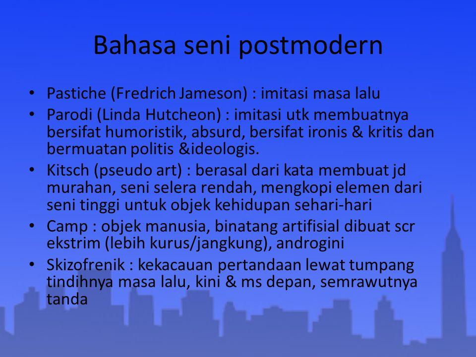 Bahasa seni postmodern