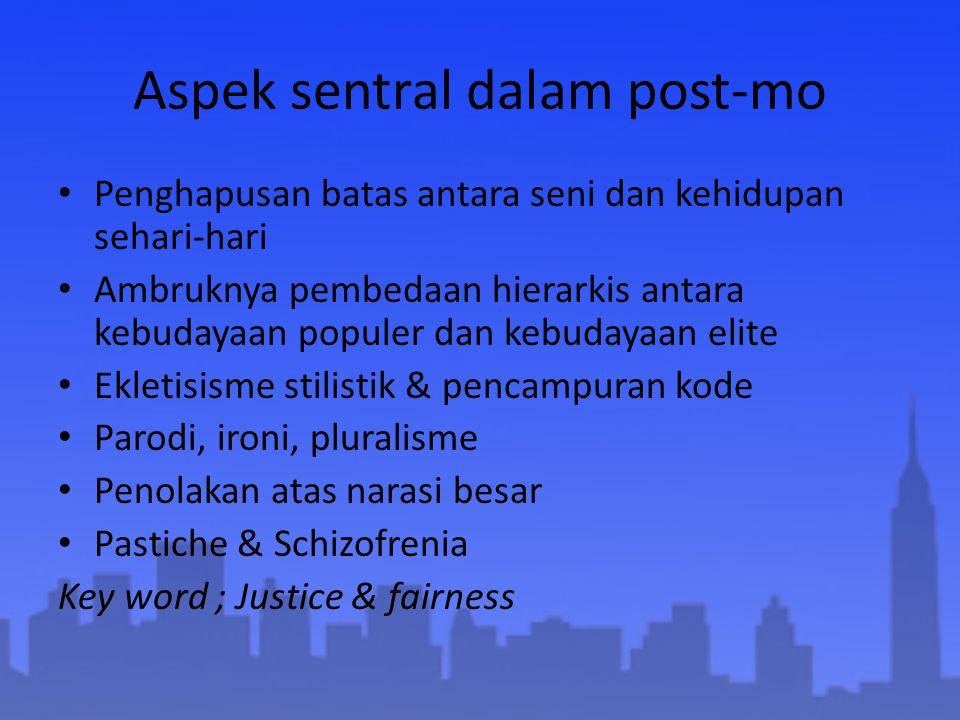 Aspek sentral dalam post-mo