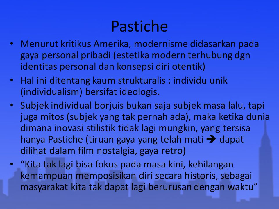 Pastiche