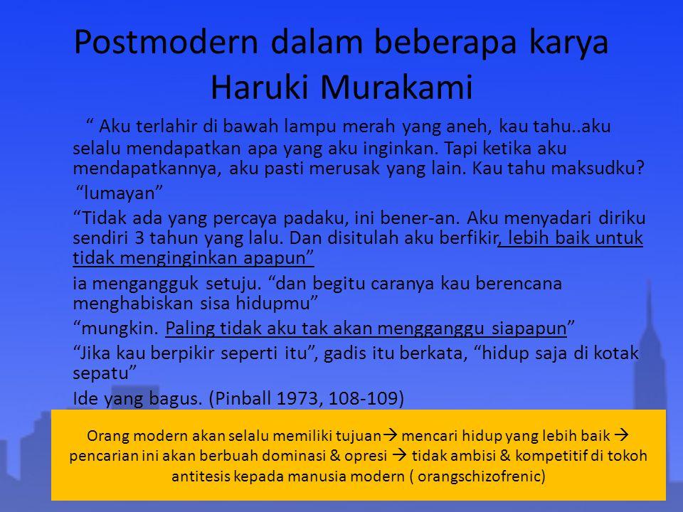 Postmodern dalam beberapa karya Haruki Murakami