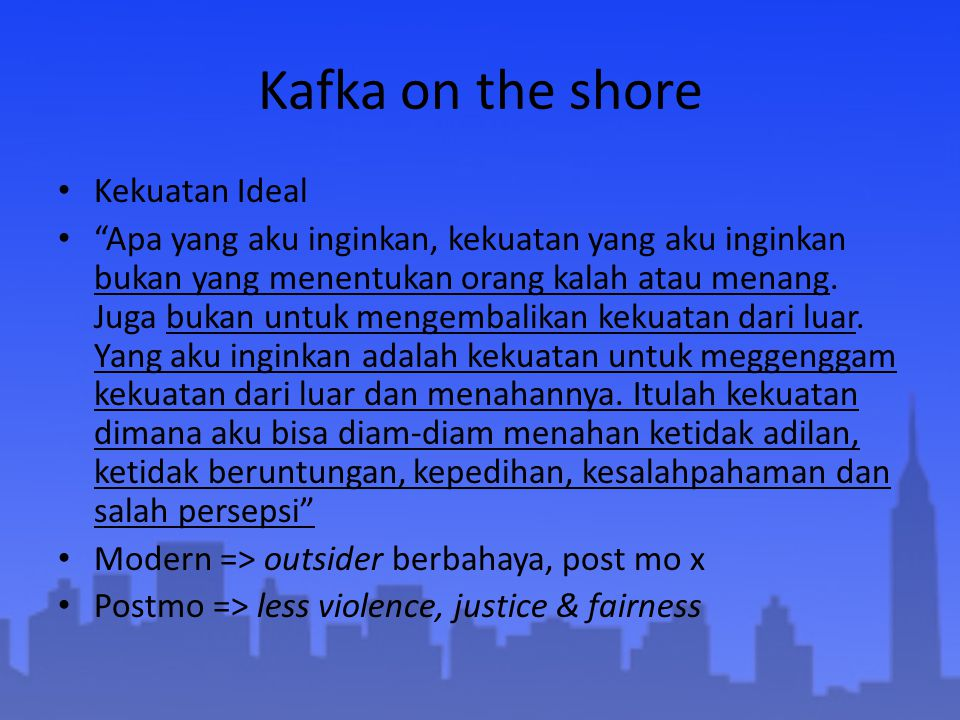 Kafka on the shore Kekuatan Ideal