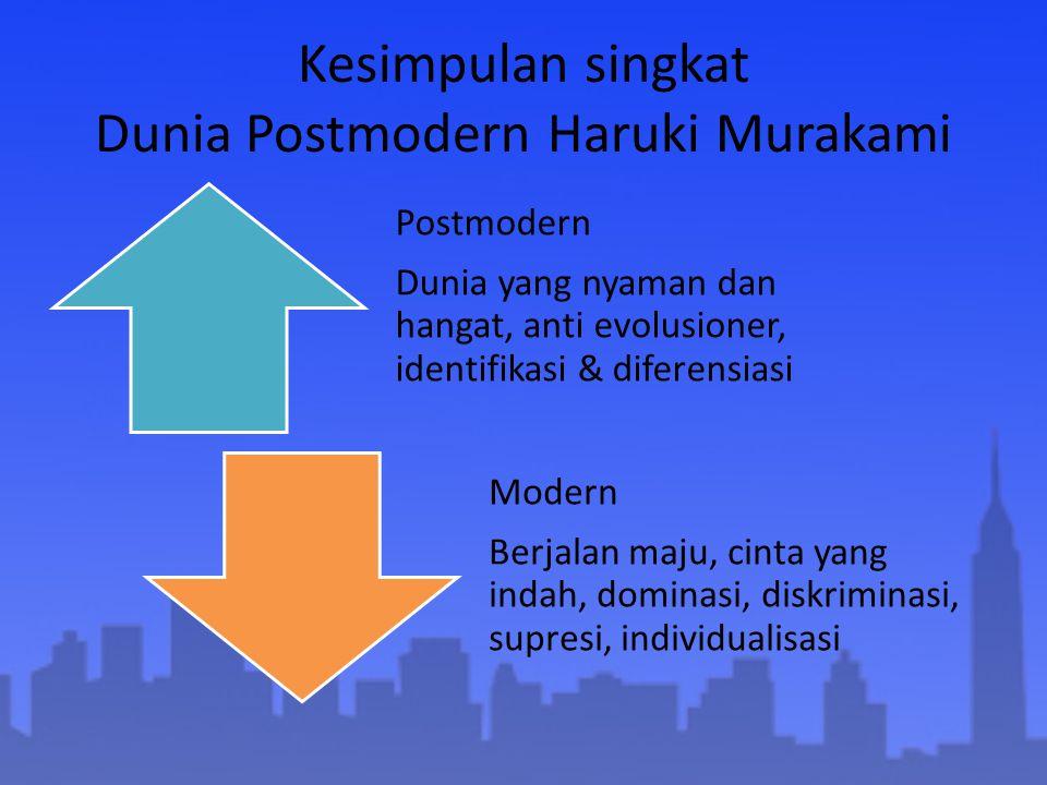 Kesimpulan singkat Dunia Postmodern Haruki Murakami
