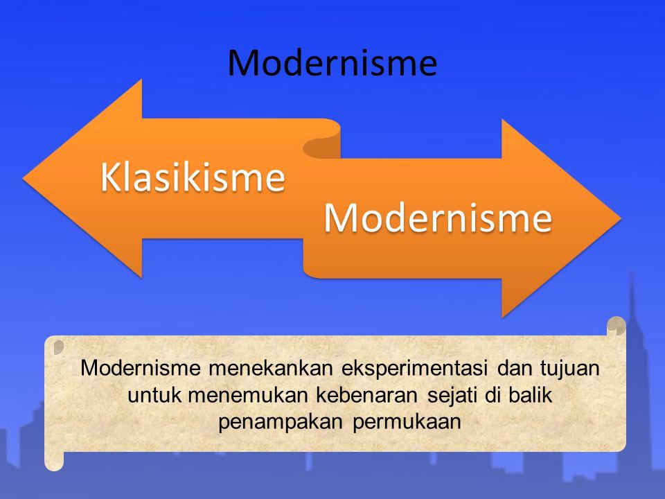 Modernisme Klasikisme. Modernisme.