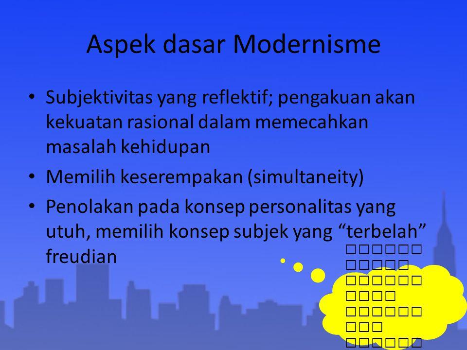 Aspek dasar Modernisme