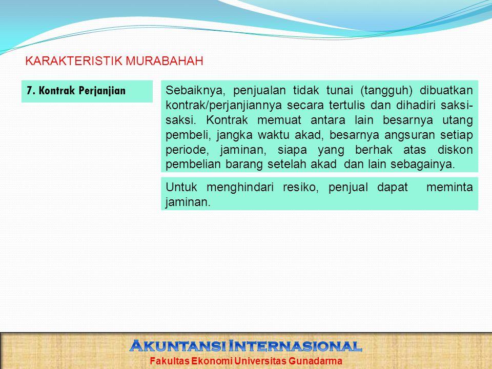 Akuntansi Internasional Fakultas Ekonomi Universitas Gunadarma