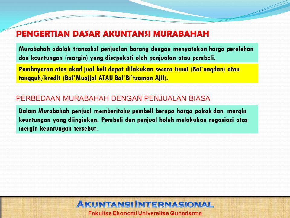 PENGERTIAN DASAR AKUNTANSI MURABAHAH