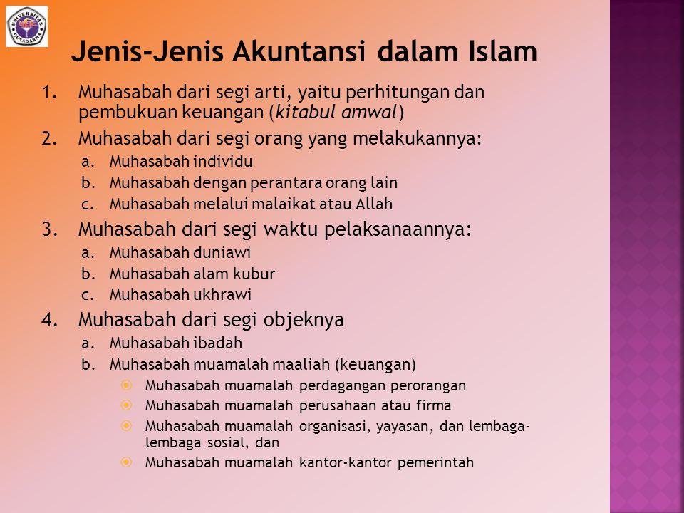 Jenis-Jenis Akuntansi dalam Islam