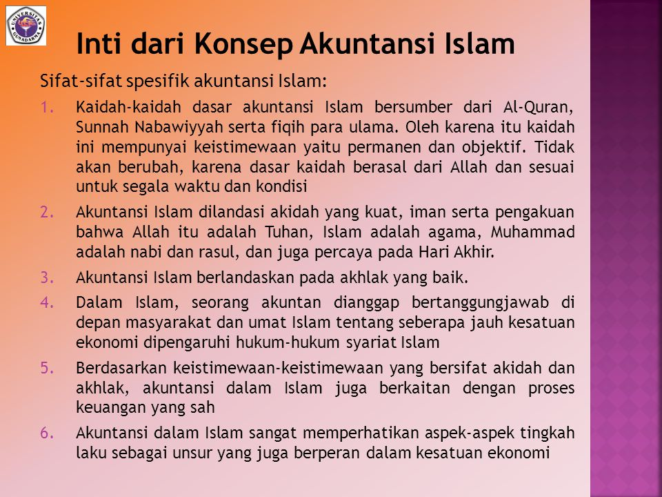 Inti dari Konsep Akuntansi Islam