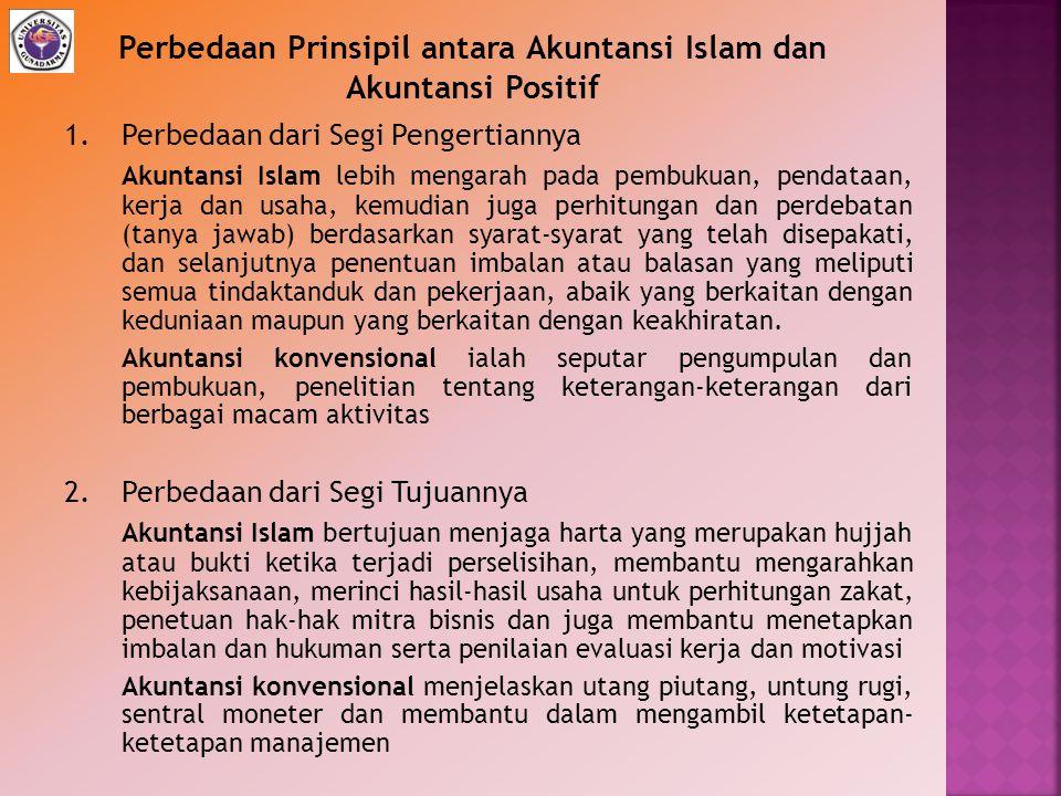 Perbedaan Prinsipil antara Akuntansi Islam dan Akuntansi Positif