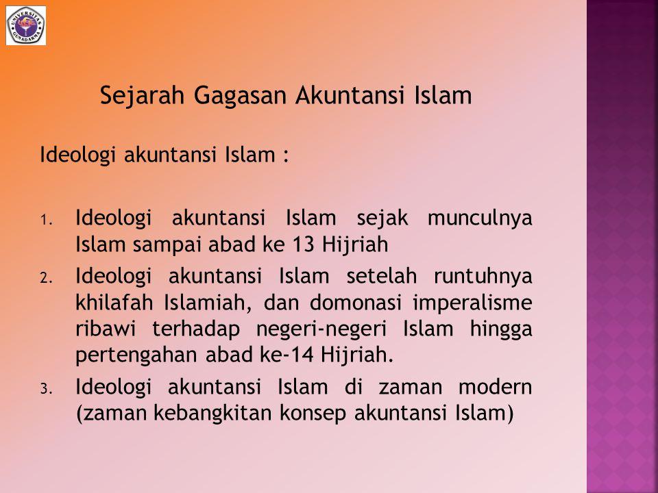 Sejarah Gagasan Akuntansi Islam