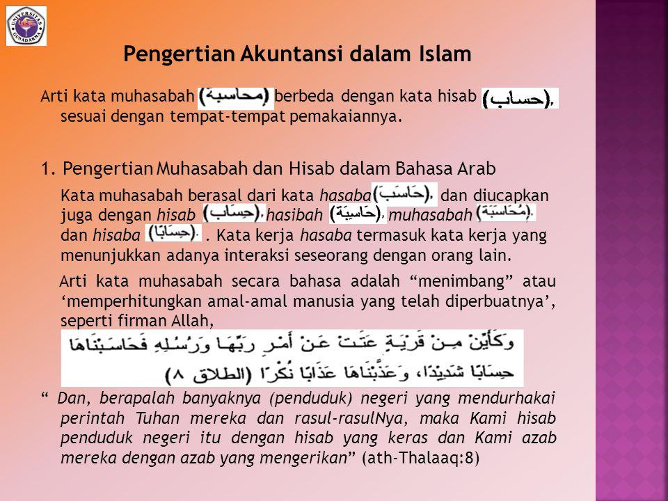 Pengertian Akuntansi dalam Islam